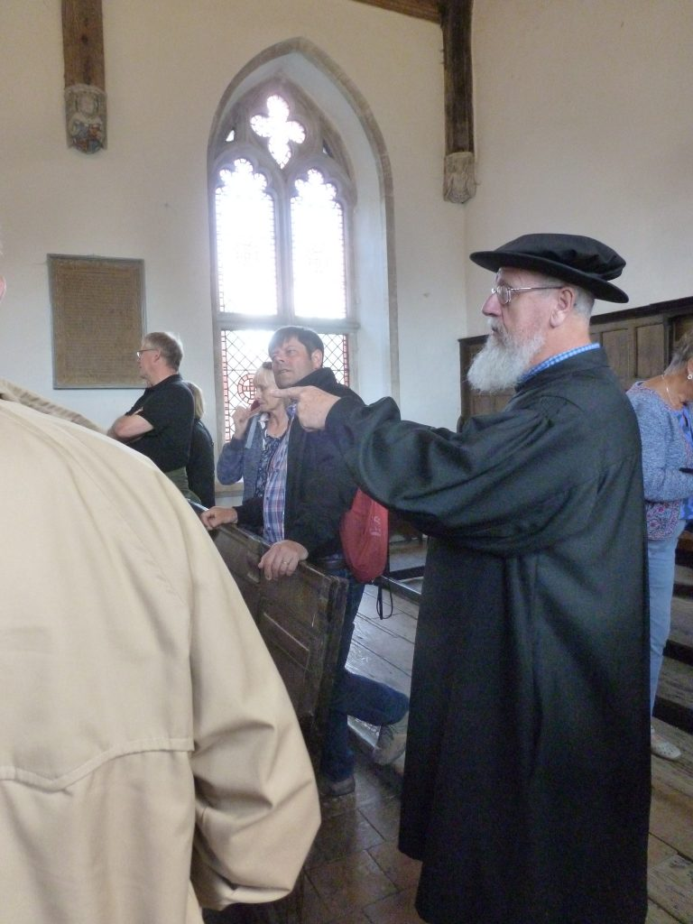 Brother John during the guided tour